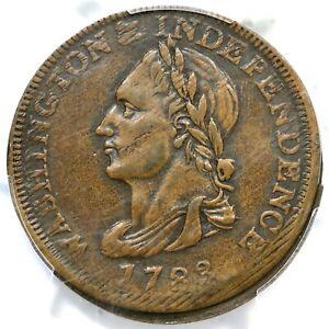 1783 GW-104 Baker-1 PCGS AU 55 UNITY STATES Washington Colonial Copper Coin