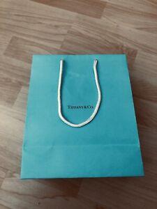 Authentic Tiffany & Co Blue Paper Shopping Medium Gift Bag 8 X 10 X 4