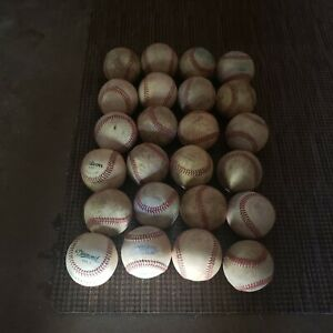 Lot Of 24 all leather Used Baseballs