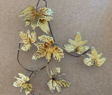 """Home Interior Gold Metal """"Leaves"""" Wall Accent - 11"""" x 9 1/2"""""""