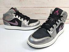 timeless design 63239 5bf1c Girls Air Jordan 1 Phat GS Matte Silver Fireberry Black White 454659-013 Sz  6.5