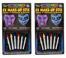 Wolf FX Make-up Stix (2 Pack, 6 Sticks Each) Crayon Sticks