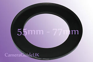 55mm to 77mm 55mm-77mm Stepping Step Up Filter Ring Adapter 55mm-77mm