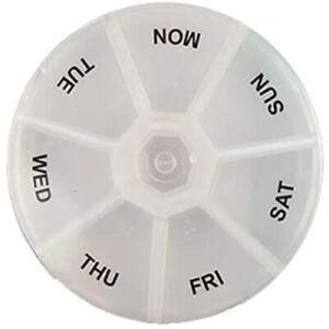 Weekly Pill Organiser, Portable, Travel Medicine Box, Moisture-Proof, BPA-Free