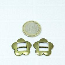 14 Hebillas Para Cordón 24mm T418 Cobre Leather Pelle Copper Bracelet Perline