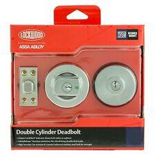 Lockwood DOUBLE CYLINDER DEADBOLT Safety Release Lock Alert Feature-SATIN CHROME