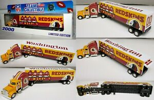 2000 Washington Redskins Die cast Truck Trailer Collectibles Scale 1:80