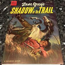 FOUR COLOR#604, ZANE GREY'S SHADOW ON THE TRAIL (DELL 1954) VF/NM 9.0