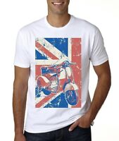 NEW VESPA ENGLAND MODS T-SHIRT SIZES  FROM MED -3XL