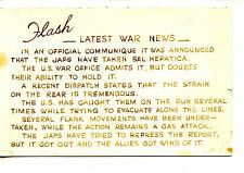 Latest War News-WWII-Humor Official Communique-RPPC-Vintage Real Photo Postcard
