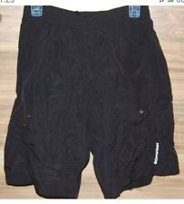 2 Pair Schwinn Mens Mountain Bike Shorts Large Black Pockets Padded Lined Baggy