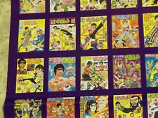 BRUCE LEE HONG KONG CHINESE COMICS BOOK 1-99 COLOR POSTER LARGE,MARTIAL ARTS