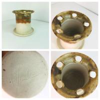 Vintage Paint Brush Pot Holder Studio Pottery Art 60's / 70's Retro Glaze Retro