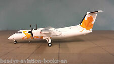 Dash 8-100 Air Canada Jazz, 'Yellow' (with stand) a metal model in 1/200 scale