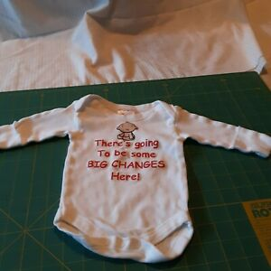 """Newborn Baby Jay One Piece """"THERES GOING TO BE SOME BIG CHANGES HERE"""" Cute Onsey"""