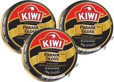 3 Pack - Kiwi Black Large Parade Gloss 2.5 oz Premium Shoe Polish