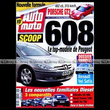 AUTO MOTO N°77 PORSHE 911 GT2 TYPE 996 YAMAHA FJR 1300 ASTRA BERTONE PROST 2000