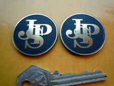 JPS John Player Special 37mm Pair Round Logo Style Self Adhesive Car Badges Race