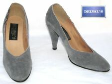 DEVAL'S - Court Shoes Vintage Leather Suede Grey 40 - New