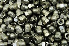 (50) Metric M6-1.0 Stainless Steel Acorn Hex Cap Nuts 6mm A2 SS Din 1587