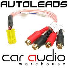 AUDI A3, A4, A6 AUTO RADIO STEREO GIALLO MINI ISO AMPLIFICATORE RCA LINE output lead