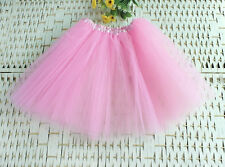 Women Girl Pretty Elastic Stretchy Tulle Dress Teen  Layer Adult Tutu Skirt