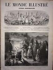 LE MONDE ILLUSTRE 1873 N 872  NOËL: VIEiLLES COUTUMES DE TOURAINE