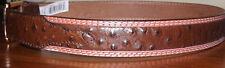 "NEW Mens 3 D Belts Chestnut Leather Belt 1 3/8"" NEW 36"