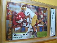 MANTI TE'O CHARGERS 2013 UPPER DECK STAR ROOKIE RC # 112 GRADED 10