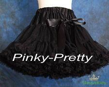 Black Tulle Pettiskirt Tutu Skirt Dancewear Party Holiday Girl Size 5-6 Pp001a