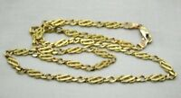 Vintage Very Nice Quality Ladies 9 Carat Gold Fancy Link Neckchain 18 Inches