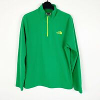 The North Face Boys Pullover Fleece Jacket Sz XL (18/20) Green Yellow
