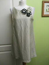 RIVER ISLAND SIZE 12 LADIES SILVER TUNIC DRESS  WITH ATTACHED CORSAGE