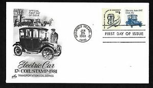 #1906  17c 1917 Electric Auto - ArtCraft  FDC, Coil + #1581