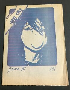 The Rat - June 1981 One Penn Plaza New York NY - VINTAGE FOLD OUT PUNK POSTER