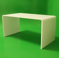 White Acrylic Plastic Table, Coffee Table Quality 15mm Acrylic Made In The UK