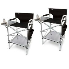 (2) EXECUTIVE VIP Tall Directors Chair w/Side Table / Carry Bag-  VALUE PAK