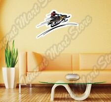 "Snowmobile Racing Ski-Doo Winter Sport Wall Sticker Room Interior Decor 25""X20"""""