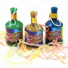 20Pc Party Poppers +MIXED COLOURS+ Confetti Birthday/Hen/Stag Do Gift Bag/Favour