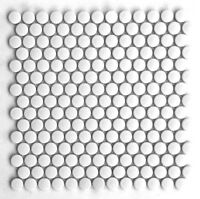"Penny Round White Porcelain 3/4"" Mosaic Tile Wall And Floor Backsplash Kitchen"