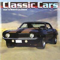 "2020 - Classic Cars - 12 Month Wall Calendar - 12"" x 12"""