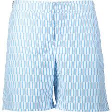 Orlebar Brown Men's Sky Blue Geo Print Swim Shorts Small/30