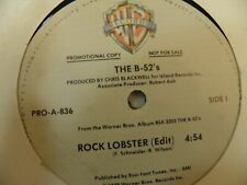the B-52s 1979 12-inch Promo Record 3 Songs Rock Lobster Planet Claire Dance Thi