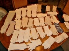 Lot of 35 Vintage Ladies Gloves Lace Crochet Lambskin Crescendo Van Raalte More!