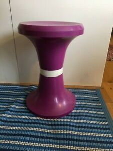 Vintage Mid-Century Purple & White Storage Stool Tam Tam Style – Retro! –