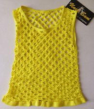 UNCLE SAM Sexy Fitness-Netz-Shirt - Größe XS - gelb - Stretch - NEU