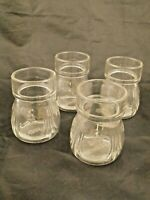 "Vintage Jewish toasting glasses-stamped L'CHAYIM on bottom-Star of David-3"" tall"