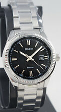 Casio LTP-1302D-1A1 Ladies Analog Watch 50M WR Stainless Steel Dress Date New