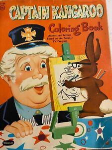 Captain Kangaroo, Vintage 1958 Coloring Book