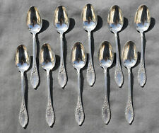 10 CUILLERES A CAFE ARGENT MASSIF MINERVE ART NOUVEAU ( silver coffee spoons )